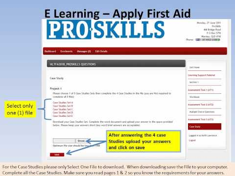ProSkills  E Learning Apply First Aid Case Studies
