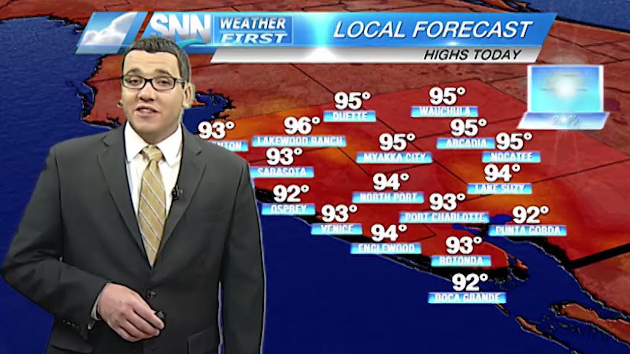 SNN: Thursday weather forecast 8/31/17