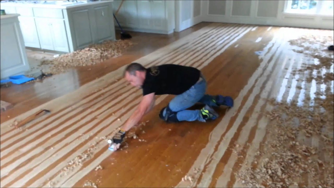 Amazing Hand Scrape Your Hardwood Floors   YouTube