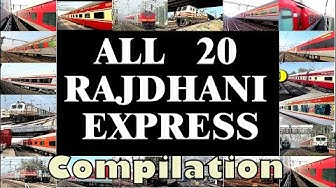 ALL 20 RAJDHANI Express of Indian Railways COMPILATION | 300k SUBSCRIBERS Special