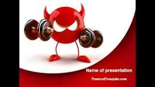 FreeBSD Daemon PowerPoint Template by PoweredTemplate.com