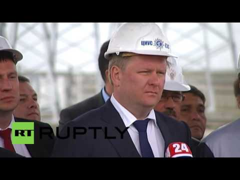Russia: Final power line of energy bridge to Crimea launched