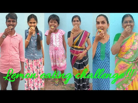 Lemon eating challenge/fun video/game video/eating challenge in tamil/game show/entertainment video