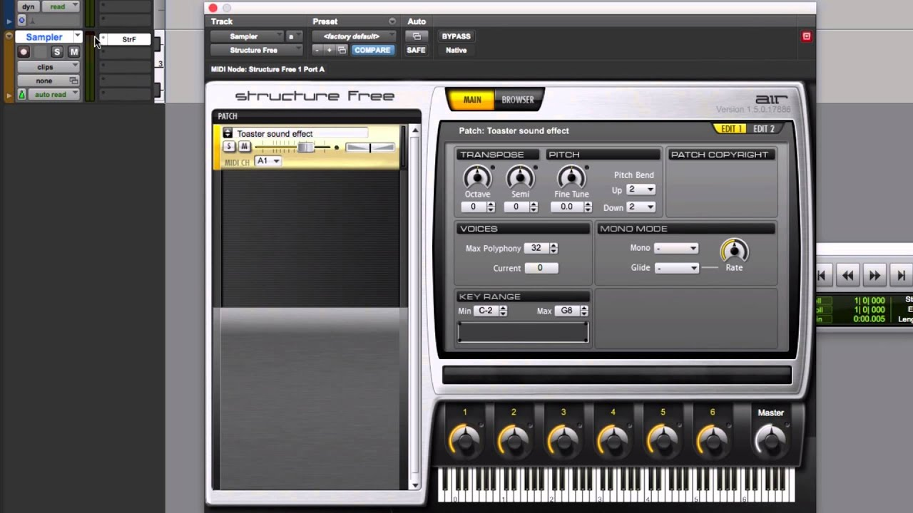 Sample with Structure Free in Pro Tools