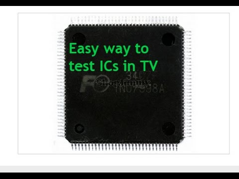 How to test IC chips in circuit: Plasma TV no picture
