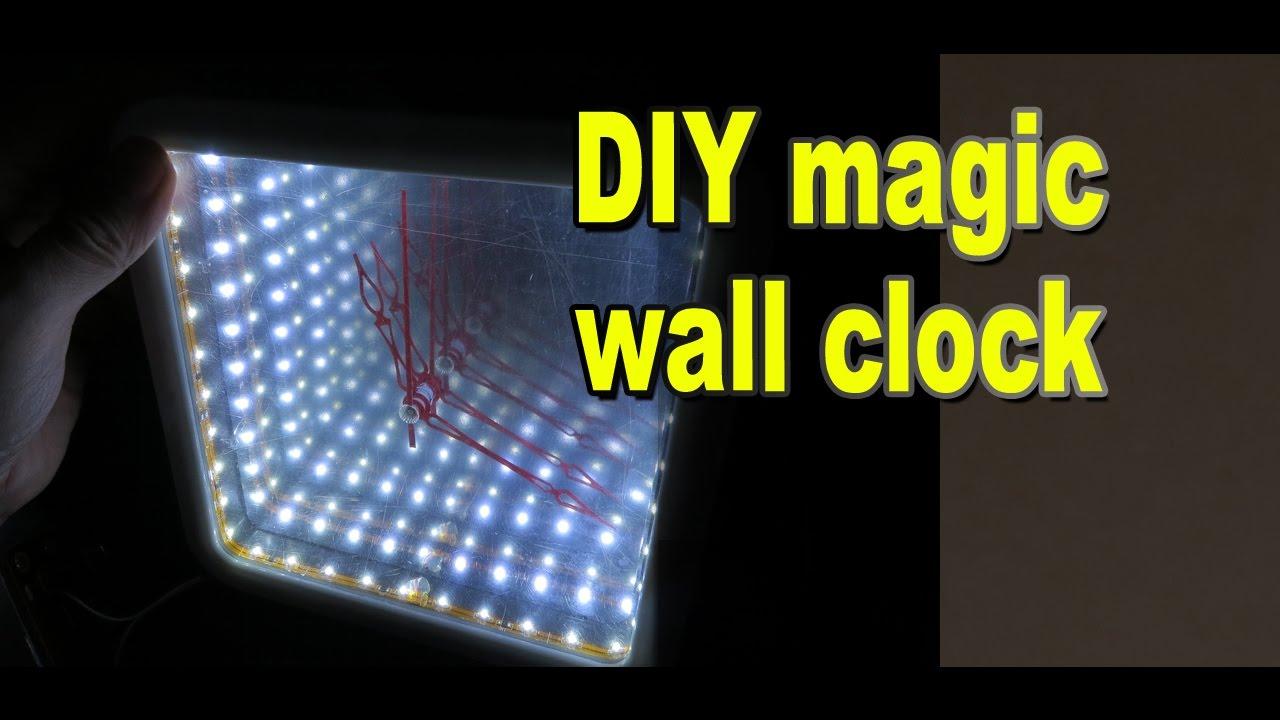 DIY magic wall clock from Secret Master / Infinity Mirror Clock