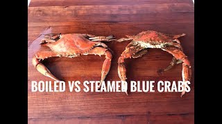 Boiled VS Steamed Blue Crabs | Head To Head Comparison
