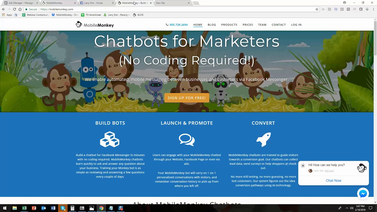 How To Use Chatbot Hack Roblox Not Working How To Create A Chatbot On Mobile Monkey By Larry Kim Youtube