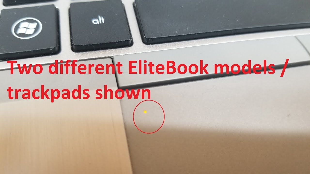 FIX HP EliteBook laptop TouchPad TrackPad not working all of a sudden 2  types of MousePads shown