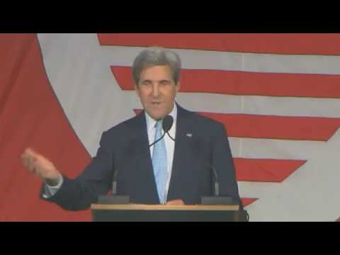 """John Kerry at Harvard: """"I Did Not Come Here to be Political"""" - Immediately Attacks Trump"""