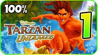 Tarzan Untamed Walkthrough Part 1 - 100% [Tarzan Freeride] (PS2, Gamecube) HD