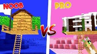 NOOB vs PRO | GIRL vs BOY | Treehouse Challenge | Minecraft Little Kelly