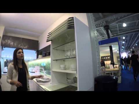Automatic lifting kitchen cabinet from new line kitchen for Automatic kitchen cabinets