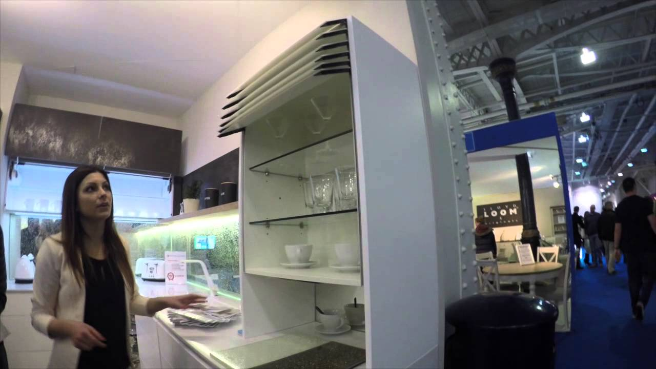 automatic lifting kitchen cabinet from New Line Kitchen