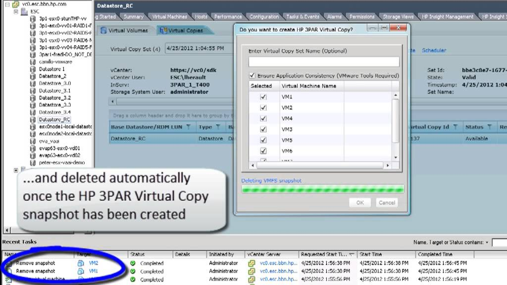 3Par - Management plug-in and Recovery Manager for VMware