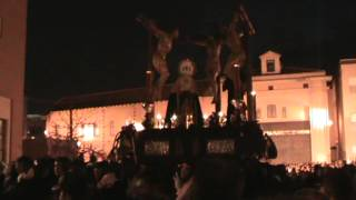 Cristo del Perdón. Cofradía de los Dolores del Puente. Málaga 2013. Pasillo de Santo Domingo