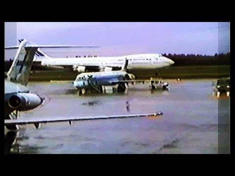 Helsinki Airport- Air France Boeing Commercial Airplanes 747 in 1980s
