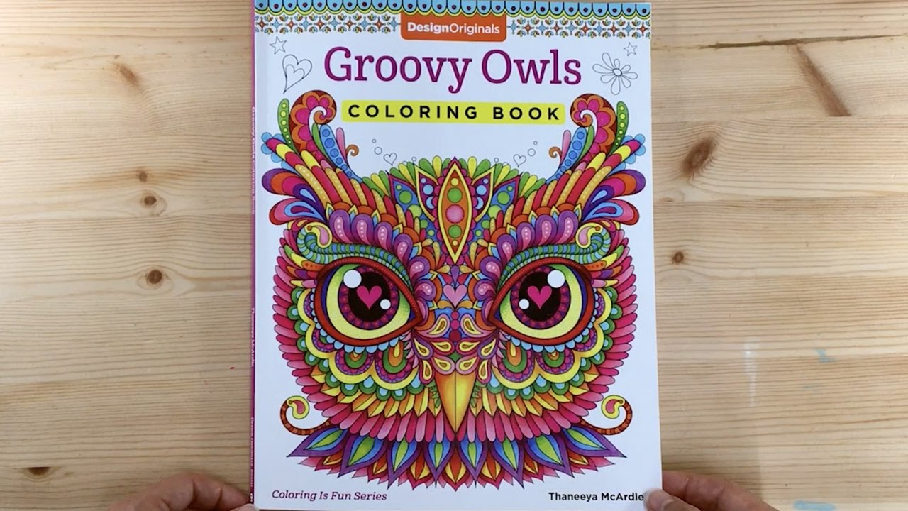Groovy Owls Coloring Book Flip Through