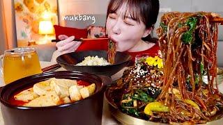 촉촉한 짜장잡채, 매운 돼지고기 김치찌개, 콩나물밥, …