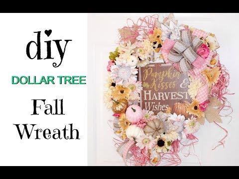 "🍁DIY DOLLAR TREE FALL WREATH / ""I Love Fall"" Ep. 3 🍁"