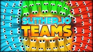 BRAND NEW SLITHER.IO GAMEMODE? THE THING EVERYONE'S BEEN WAITING FOR? TEAM MODE (Slitherio/Worm.is)