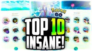 Pokemon Go - The TOP 10 MOST INSANE SIGHTINGS! (RAREST Pokemon Go Sightings!)