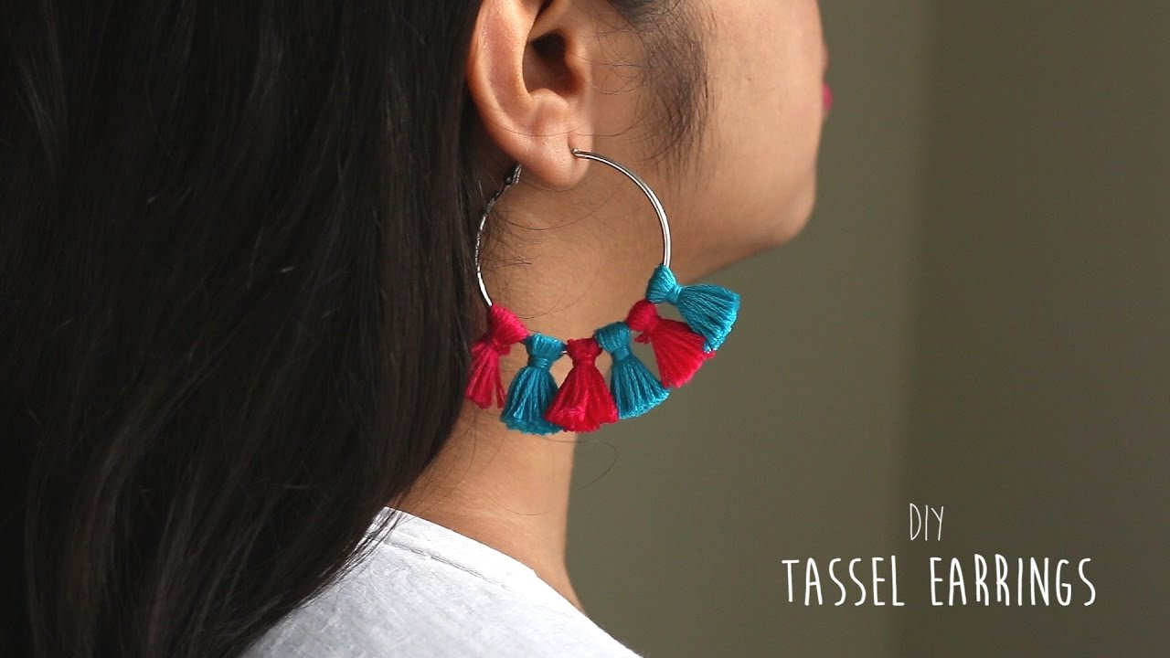 Diy Easy Tassel Earrings Youtube