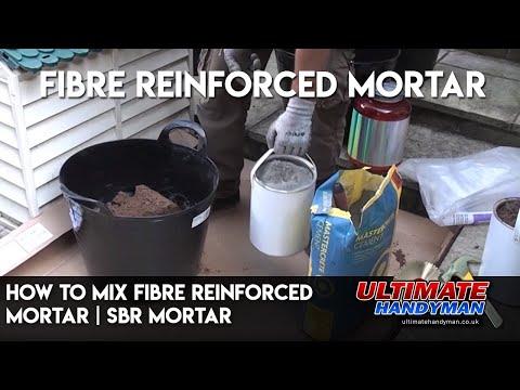 How to mix fibre reinforced mortar | SBR mortar