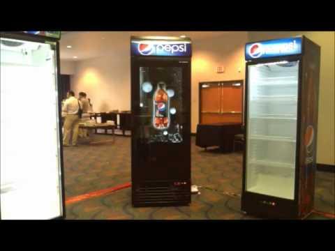 Ubc Ice Stream Glass Door Fridges With Slim Video Panel