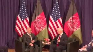 Meeting of President Ghani with the Vice President of the United States. #ghani #fresh #Afghanistan