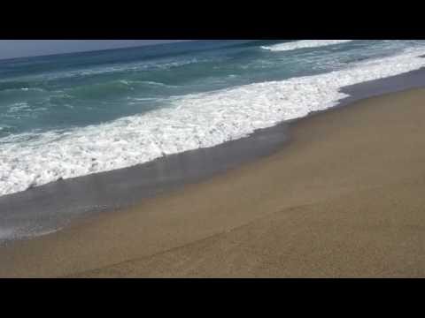 Walking on Zuma Beach, Malibu, California Timelapse