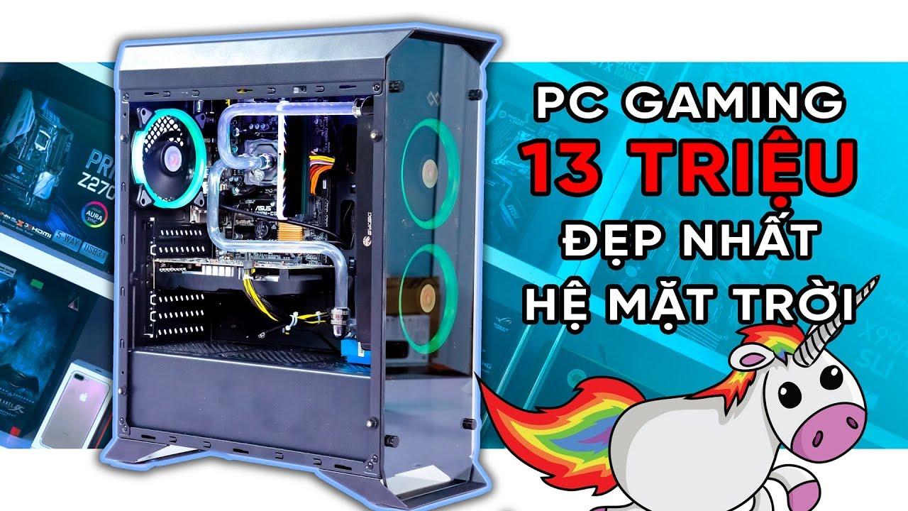 13 triệu cho PC GAMING có quạt RGB & tản nhiệt NƯỚC Custom! | HANOICOMPUTER