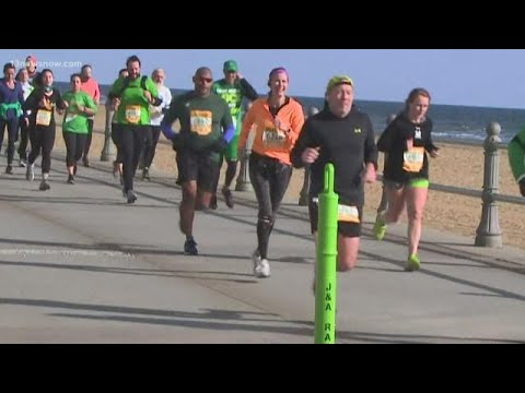 Runners Take Over The Oceanfront For 46th Annual Shamrock Marathon