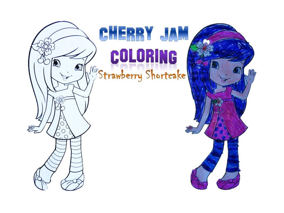 Cherry Jam - Coloring (Strawberry Shortcake Series) - YouTube