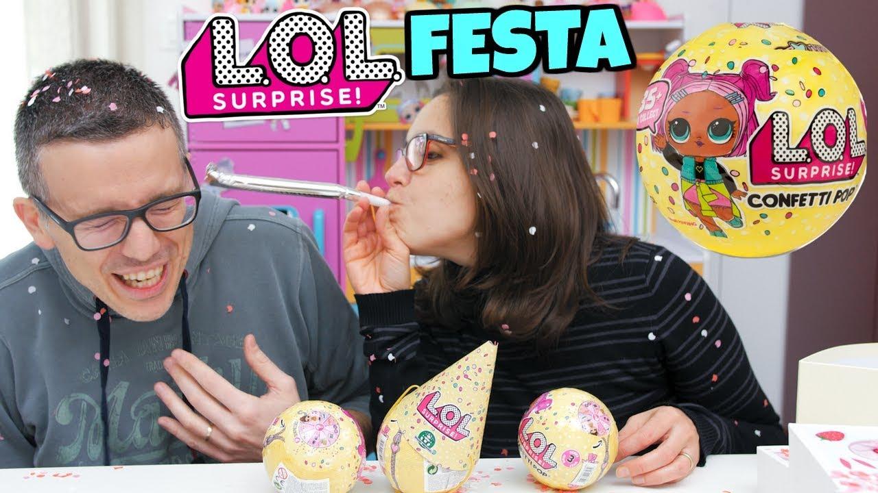 Lol Surprise Confetti Pop Facciamo Festa Con Pacco Sorpresa Youtube