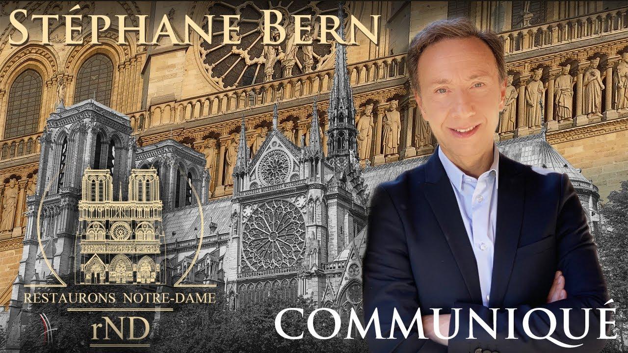 Restauration de Notre-Dame de Paris : Stéphane Bern s'adresse aux étudiants et enseignants