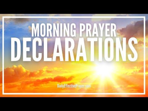 Morning Prayer Declarations - Command Your Morning Prayer