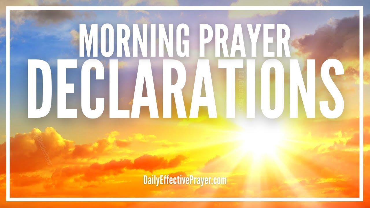Morning Prayer Declarations | Command Your Morning Prayer