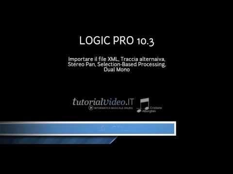 Logic Pro 10.3 - Importare una partitura XML
