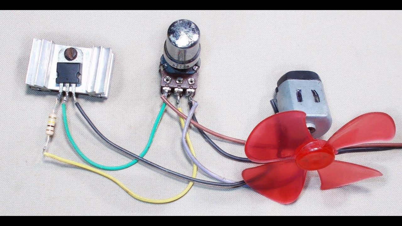 Tutorial Simple Dc Motor Speed Control Circuit