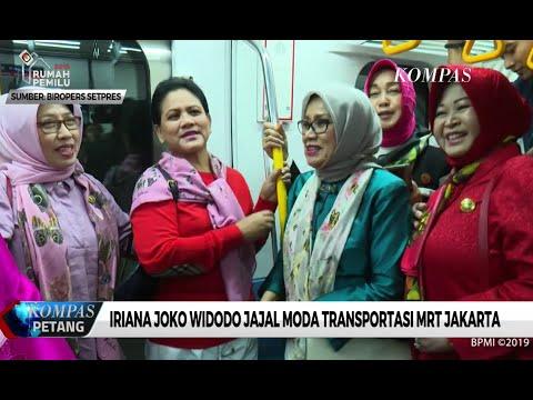 Iriana Joko Widodo Jajal MRT Jakarta