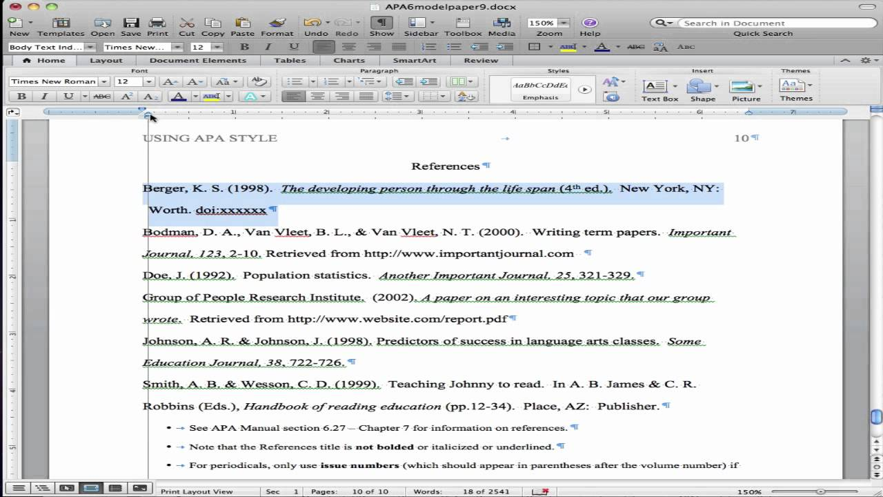 Annotated Bibliographies - The Writing Center