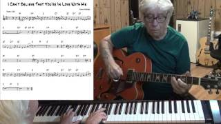 I Can't Believe That You're In Love With Me - Jazz guitar & piano cover ( Jimmy McHugh )