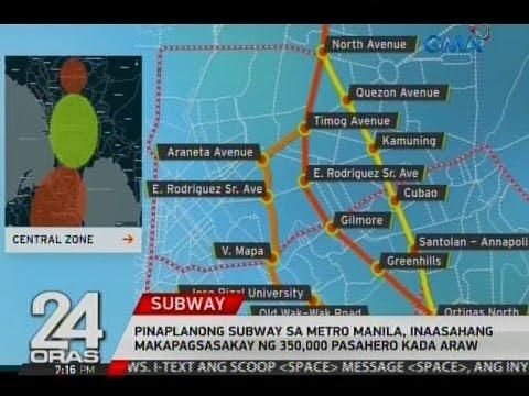 Pinaplanong subway sa Metro Manila, inaasahang makapagsasakay ng 350,000 pasahero kada araw