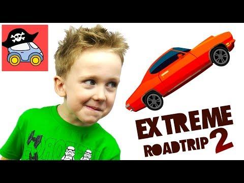 🚗 Игры гонки Extreme Road Trip 2 Мультики про машинки Илюшин первый Летсплей для детей Жестянка