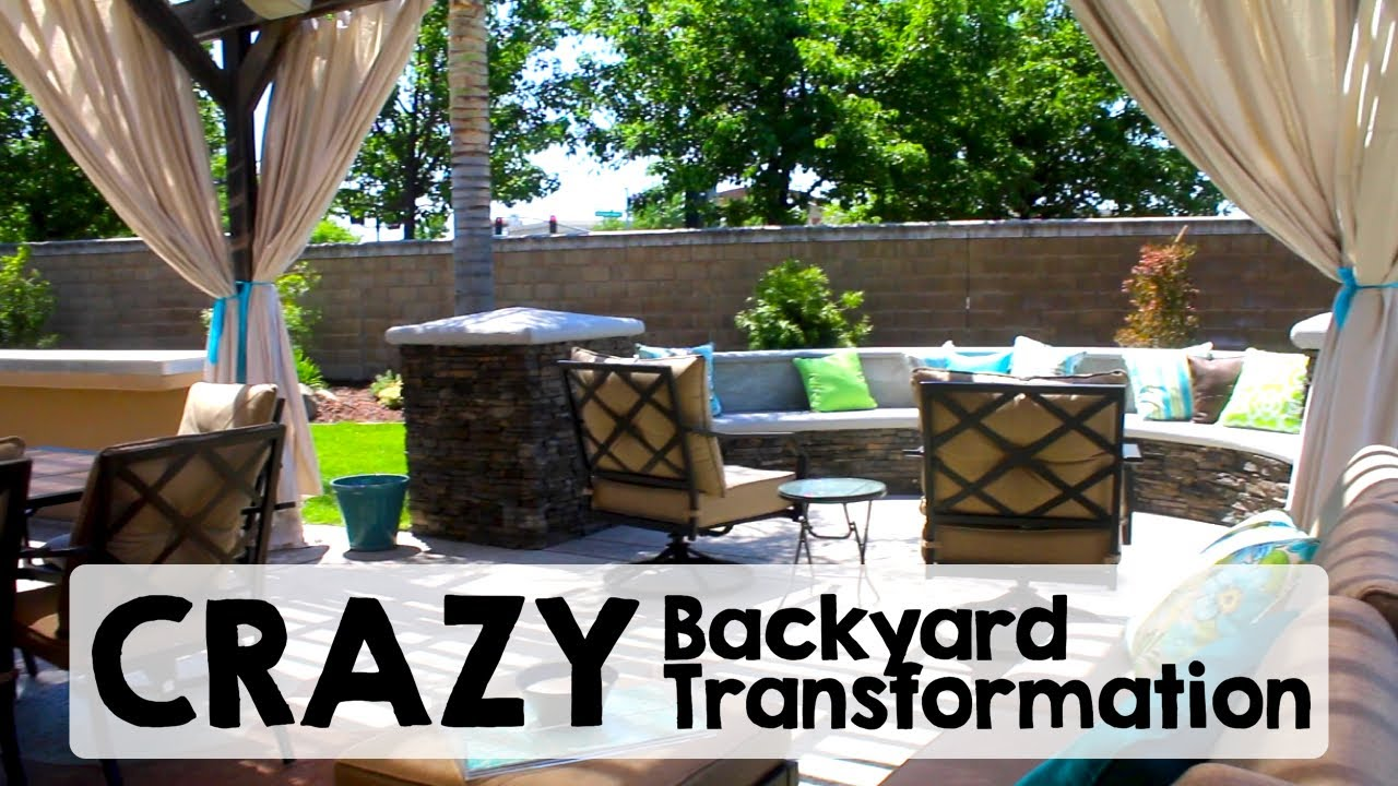 Crazy Backyard Transformation Before After Youtube