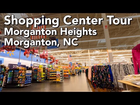 Walking Around A North Carolina Shopping Complex - Morganton Heights, Morganton NC