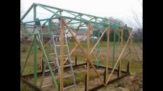 Budowa szkieletu tunelu foliowego cz.1