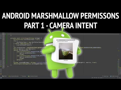 Upgrading android camera intent app to marshmallow runtime permissions