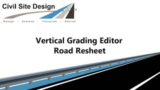 Civil Site Design - Roads - Road Resheet